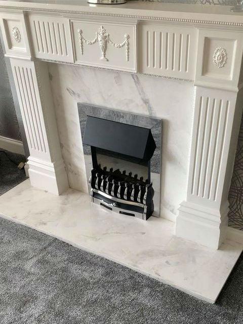 Venetian Plastering Glasgow - Venetian plaster fireplace - KMac Plasterers