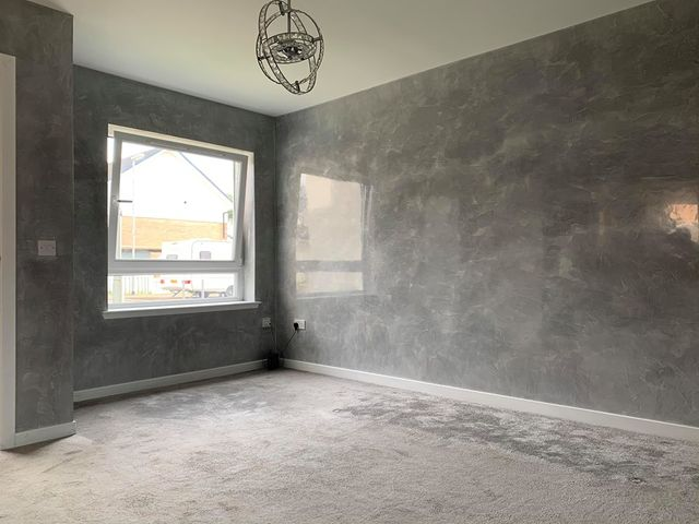 Venetian Plastering Glasgow - Venetian plaster grey room - KMac Plasterers