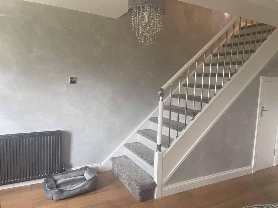Kmac Venetian Plasterers - bespoke venetian plaster Staircase Glasgow Scotland